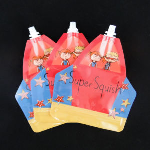 High Seal Strength Pet/Ny/PE Liquid Spout Pouch for Juice pictures & photos