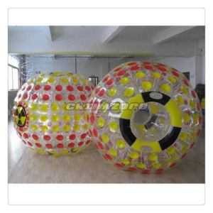Yellow&Red Mixed Color Dots Inflatable Zorb Human Roller Ball