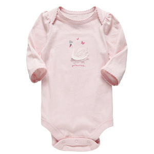 2014 Spring 100% Cotton Pink Baby Girl Romper pictures & photos