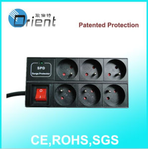 French Type Power Strip with Switch and Surge Protection