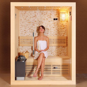 Full Front Glass Far-Infrared 2 Persons Sauna Room pictures & photos