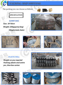 DIN766 Factory Iron Link Chain pictures & photos