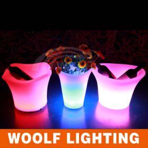 Bar Club Restaurant LED Flower Pot Decoration pictures & photos