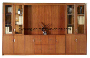 Wooden Office Furniture File Cabinet with Glass Doors pictures & photos