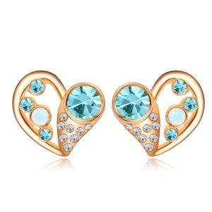 Fashion Crystal Gold Alloy Fancy Stud Earring
