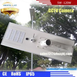 5W-120W Outdoor Luminaria All in One Integrated LED Solar Garden Street Light with CCTV Camera pictures & photos