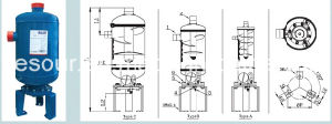 Helical Oil Separator with Flange pictures & photos