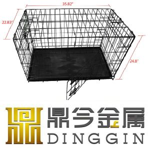 Wire Dog Pet Crate with 2 Doors pictures & photos