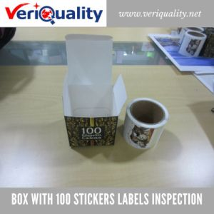 Box with 100 Stickers Labels Quality Control Inspection Service at Guangzhou, Guangdong pictures & photos