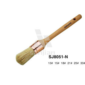 Sjie8051-N Pure Bristle Round Paint Brush pictures & photos