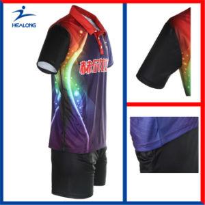 Healong Unisex Sublimated Cheap Table Tennis Wear pictures & photos