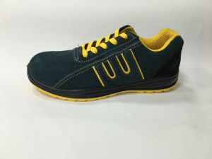 Upper Suede Leather Sole PU Work Safety Shoe