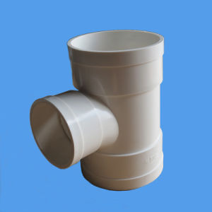 Elbow 90 Deg with Inspection Door PVC Pipe Fitting for Drainage pictures & photos
