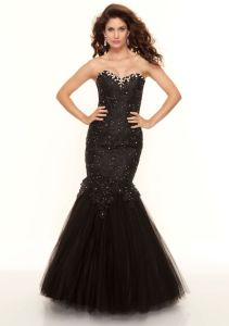 Fashion New Style Black Beaded Mermaid Tulle Prom Dresses (PD3021) pictures & photos
