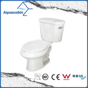 Siphonic 1.28gpf Single Flush Two Piece Elongated White Toilet (ACT9046) pictures & photos