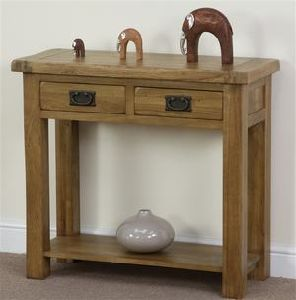 Bedroom Furniture/Solid Wood Console Table with 2 Drawer (HSRU-005)
