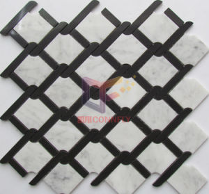 Water Jet Cutting Polished Marble Mosaic for Kitchen Splash (CFS1140) pictures & photos
