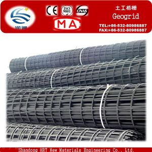 Low Elongation High Tensile Steel Plastic Complex Geogrid pictures & photos