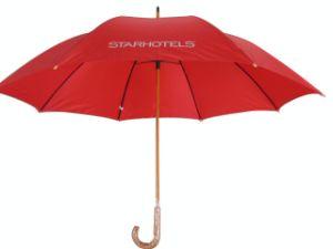 Wood Shaft Manual Open Golf Umbrella (GU027) pictures & photos