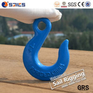H324 Electro Galvanized Drop Forged Eye Slip Hook pictures & photos