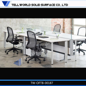 Modern Office Table Office Workstation for 4 People Made by Solid Surface pictures & photos