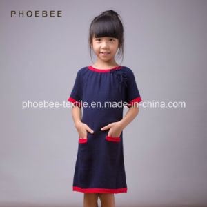 Phoebee Spring/Autumn Girls Knitted Sweater Dress pictures & photos