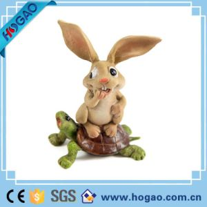 Top-Rated Polyresin Garden Decoration Resin Rabbit Figurine pictures & photos