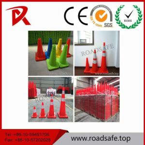 Roadsafe Traffic Safety 45cm Retractable Reflective Traffic Cone with Black Base pictures & photos