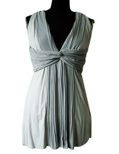 Ladies Deep V Sexy Grey Sleeveless Cocktail Dress (EF D6110)
