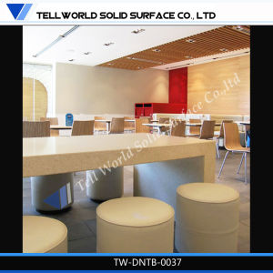 Artificial Stone Modern Restaurant Furniture Dining Table and Chairs Sets pictures & photos