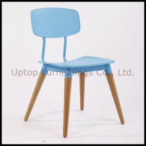 Restaurant Furniture Wooden Legs Plastic Dining Chair (SP-UC396) pictures & photos
