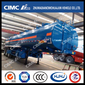 Cimc Huajun 37cbm 5compartments 3axle Fuel/Gasoline/Oil/LPG Tanker with 5 Manholes pictures & photos