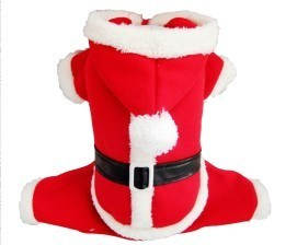 Luxury Plush Santa Claus Christmas Dog Clothes pictures & photos