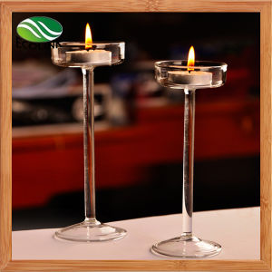 Promotional Handmade Crystal Glass Candle Stick for Table Decoration pictures & photos