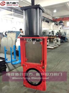 Slurry Knife Gate Valve with Bevel Gear Pneumatic Electric pictures & photos