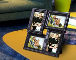 Plastic Gift Home Decoration Collage LED Light Photo Frame pictures & photos