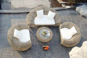 Round Outdoor Sofa 4 Pieces Sets