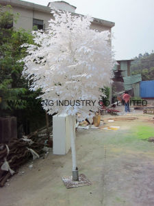 Factory Hot Sale Fake Artificial Synthetic Outdoor Indoor Silver Banyan Ficus Tree