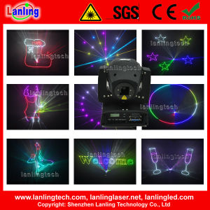 RGB 1W Full Color Animation Moving Head Laser Light pictures & photos