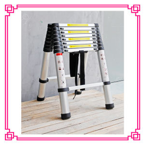 Aluminum Double Telescopic Ladder (DLT508) pictures & photos