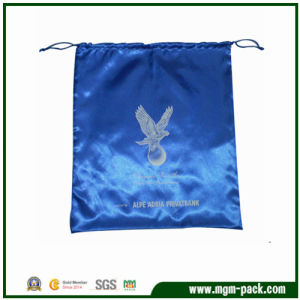 High Quality Blue Rectangle Satin Drawstring Jewellery Bag pictures & photos
