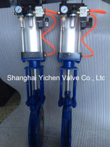 Pneumatic Knife Gate Valve (YCPZ673) pictures & photos