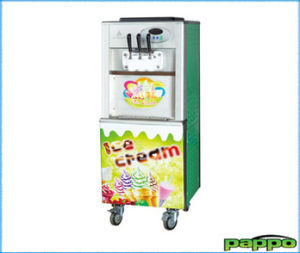 Floor Stand Soft Ice Cream Machine (2 flavors+mix)