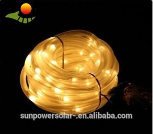 Solar LED Christmas Lights Color Changing LED Solar Powered LED String Lights, 100 LED Solar Copper Rope Light pictures & photos