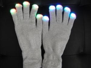 LED Glove, Glove, Silver Flash Glove (555J)