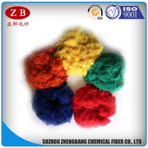 Recycling 1.5D*51mm Polyester Fiber in Staple Style Dope Dyed PSF in High Quality