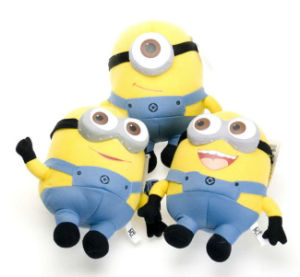 Custom Despicable Me Cartoon Character Stuffed Sof Toy Minion Plush Toy