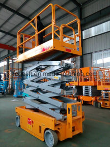 10m Self-Propelled Electric Hydraulic Scissor Lift pictures & photos