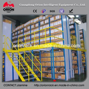 Storage Steel Structure Mezzanine Floor with Shelf Rack pictures & photos