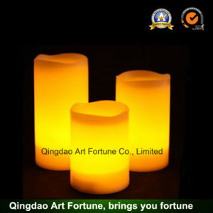 Flameless LED Candle with Timer for Different Sizes-3 Size pictures & photos